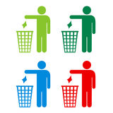 No littering icons set Stock Images