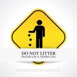 No littering poster Stock Photos