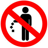 No littering sign royalty free illustration