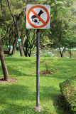 No littering sign. In the garden Stock Photo