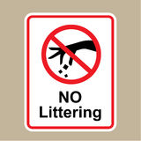 No littering sign Hand gesture red black Stock Photo