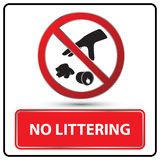 No littering sign  illustration Royalty Free Stock Image