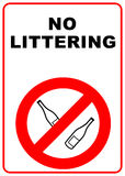 No littering sign royalty free stock photography