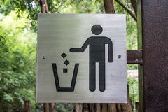 No littering sign Stock Photography
