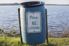 No Littering Sign Stock Images