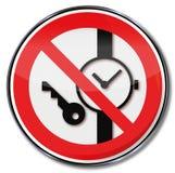 No lleve por favor las llaves, u otros dispositivos metálicos Imagen de archivo libre de regalías