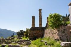 No local arqueológico de Deplhi em Grécia fotos de stock