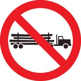 No logging truck sign Stock Photo