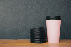 No logo pink coffee cup Royalty Free Stock Image