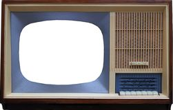 No logo retro tv 1960s royalty free stock photo