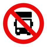 No lorry parking sign Royalty Free Stock Photos