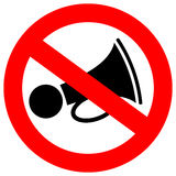 No loud sound sign Stock Images