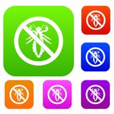 No louse sign set collection Stock Photography