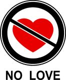 No love!. The allegorical icon Royalty Free Stock Image