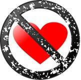 No love. Grunge design sign Stock Images