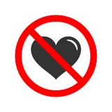 No love allowed sign Royalty Free Stock Photography