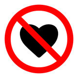 No love sign label vector Stock Photo