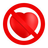 No loving sign Stock Photography