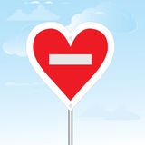 No loving sign. Vector illustration. Royalty Free Stock Image