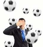 No lubię futbolu Zdjęcia Stock
