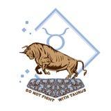 No luche con el toro de Taurus Conquering libre illustration