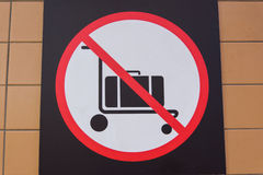 No luggage Royalty Free Stock Images