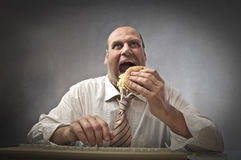 No lunch break Stock Images