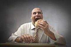 No lunch break Stock Images