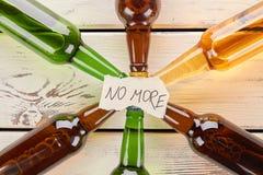 No más al alcohol que bebe, concepto Imagen de archivo libre de regalías