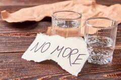 No más de consumición del alcohol imágenes de archivo libres de regalías