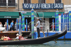 No Mafia Venezia e Sacra stock photo