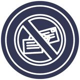 No mail circular icon. A creative illustrated no mail circular icon image vector illustration