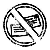 no mail distressed icon royalty free illustration