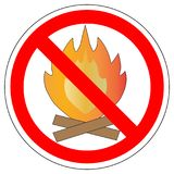 No make fire, sign, vector. Royalty Free Stock Photography