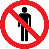 No male toilets sign Stock Photography