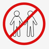 No Man Sign Stock Images
