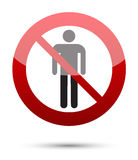 No man sign Royalty Free Stock Images