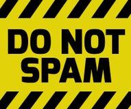 No mande spam la muestra Fotos de archivo