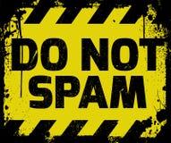 No mande spam la muestra Imagen de archivo libre de regalías