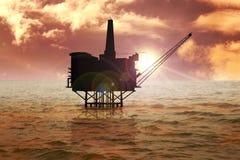 No mar imagem de stock