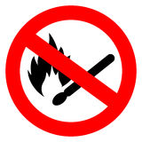 No match fire vector sign. Isolated on white background Stock Photo