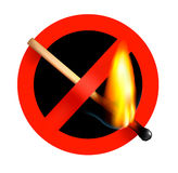 No matchstick fire sign. Vector. Matchstick fire sign. Vector illustration Royalty Free Stock Photos