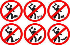 No mate a los animales Imágenes de archivo libres de regalías