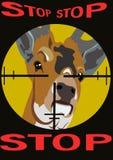 ¡No mate a los animales! Fotos de archivo