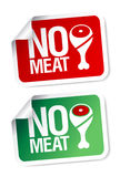 No meat stickers. Stock Image