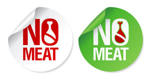 No meat stickers. Stock Photo