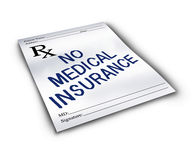 No Medical Insurance Royalty Free Stock Images