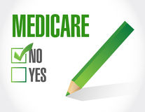 No Medicare sign illustration Stock Images