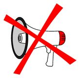 No megaphone Stock Images