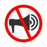 Do not use megaphone vector illustration
